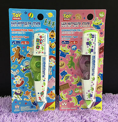 2x Toy Story Correction Tapes Cute Disney Whiper Mini Roller Plus Whiteout Gift