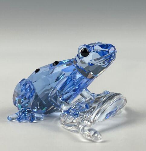SWAROVSKI CRYSTAL BLUE DART FROG FIGURINE MINT IN ORIGINAL BOX