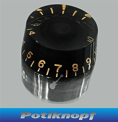 Speed Knob - schwarz mit gold - SK-Bk-GD - Potiknopf - Knopf - Poti - Knob -