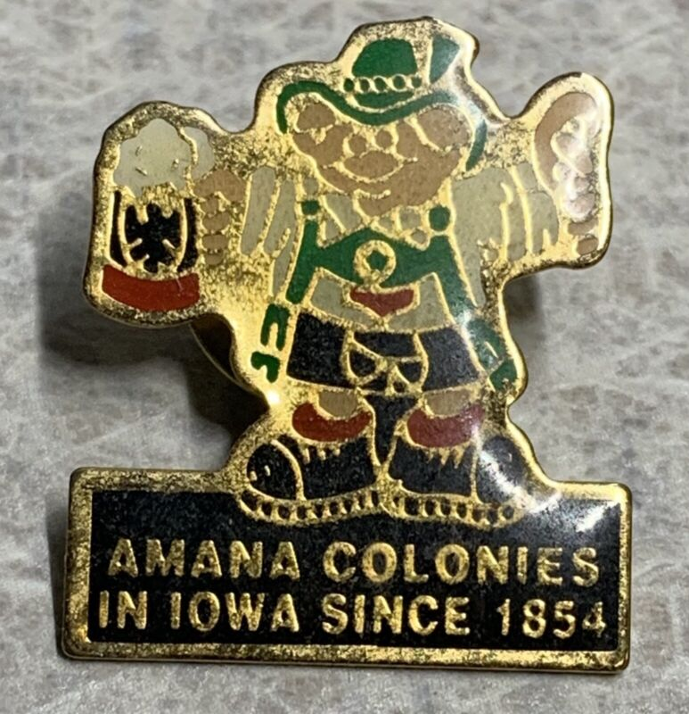 Vintage AMANA COLONIES Iowa 1854 ~ Lapel Hat Pin [A]