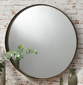 Greystoke Large Bronze Round Wall Mirror - 33