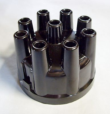 1963-74 Comet Fairlane Falcon Mustang 8 Black Distributor Cap Copper Contacts