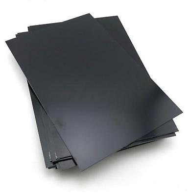 Us Stock 2pcs 1.5mm X 7.87 X 9.84 Black Abs Styrene Plastic Flat Sheet Plate