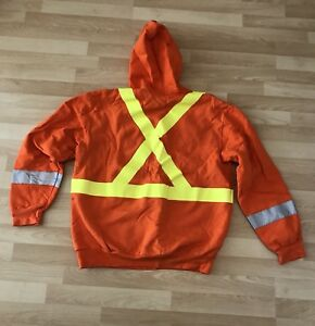 New! Hammill Men's Large Orange 3M Hoodie