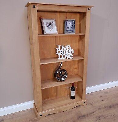 Corona Medium Bookcase 3 Shelf Mexican Solid Pine by Mercers Furniture®