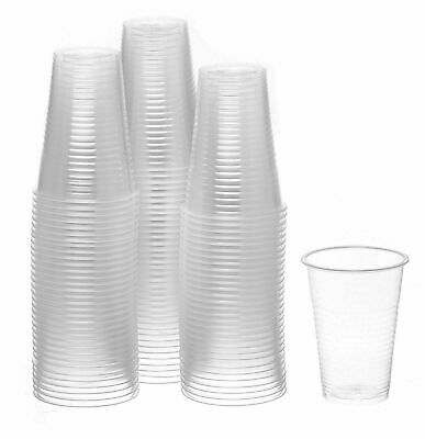 7 oz Clear Plastic Disposable Drinking Cups 100 -