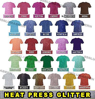 2 Random Test Sheets 3x6 Sample Glitter Heat Transfer Vinyl Press Tshirt Htv