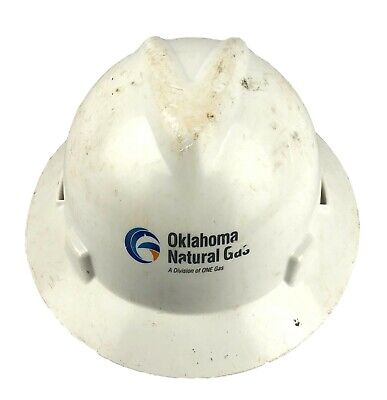 Msa Adjustable White Plastic Hard Hat Oklahoma Natural Gas Ong