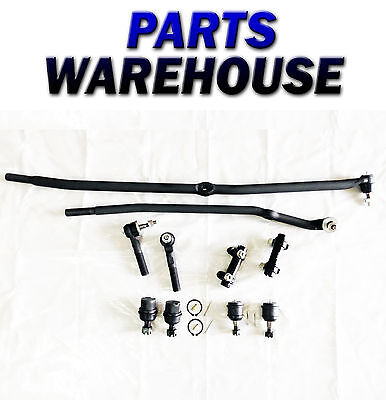10 PIECE DRAG LINK TIE ROD UPPER LOWER BALL JOINT ADJUSTING SLEEVE 3 YR WARRANTY