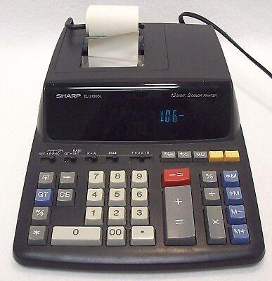 Sharp EL-2196BL Electronic Accounting Calculator 12 Digit 2 Color Printer  120V