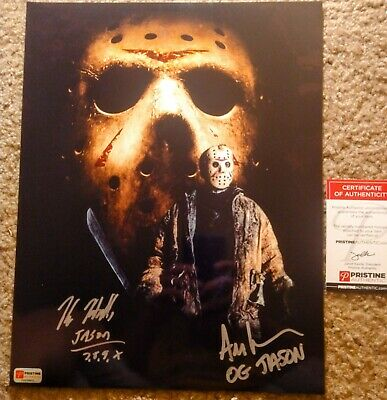 Kane Hodder And Ari Lehman Signed Friday The 13th 11x14