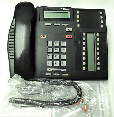Nortel T7316e Phone Norstar Nt8b27 With Lit Pack Charcoal Tested Warranty