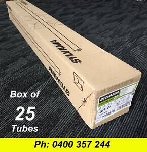 Box Of 25 Fluorescent Tubes Sylvania 36w 4 Foot 3500k Cool White Ceiling Lights Gumtree
