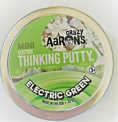 "Electric Green Crazy Aaron's Thinking Putty 2"" can .47 oz"