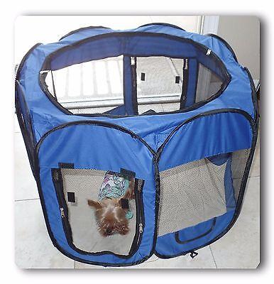 """57"""" Blue 600D Oxford Portable Pet Puppy Soft Tent Playpen Dog Cat Crate Pet"""
