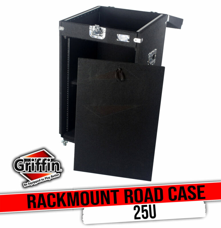Ultimate Rackmount Studio Mixer Flight Road Case By GRIFFIN   25U Mount Space