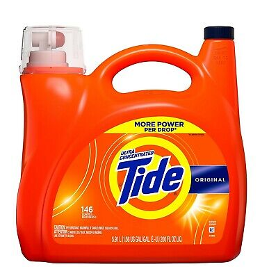 Tide Ultra Concentrated Liquid Laundry Detergent, Original, (146 lds, 200 oz.) Ultra Laundry Detergent