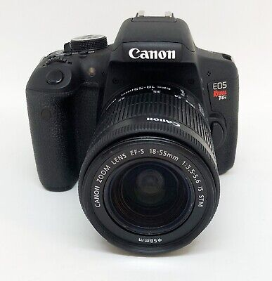 Canon EOS Rebel T6i 24.2MP DSLR Camera w/ EF-S 18-55mm Low Shutter Count 2148