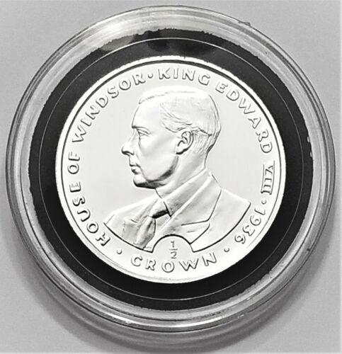1993 Gibraltar King Edward VIII 1/2 Crown Proof Half Oz. .999 Silver Coin