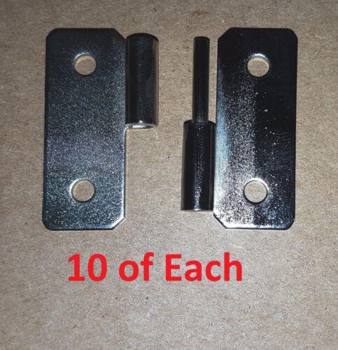 10 Set Slip Joint/Take Apart/Lift Off Hinge 1.44 x 1-1/2 Nickel HOLES 1046/1047