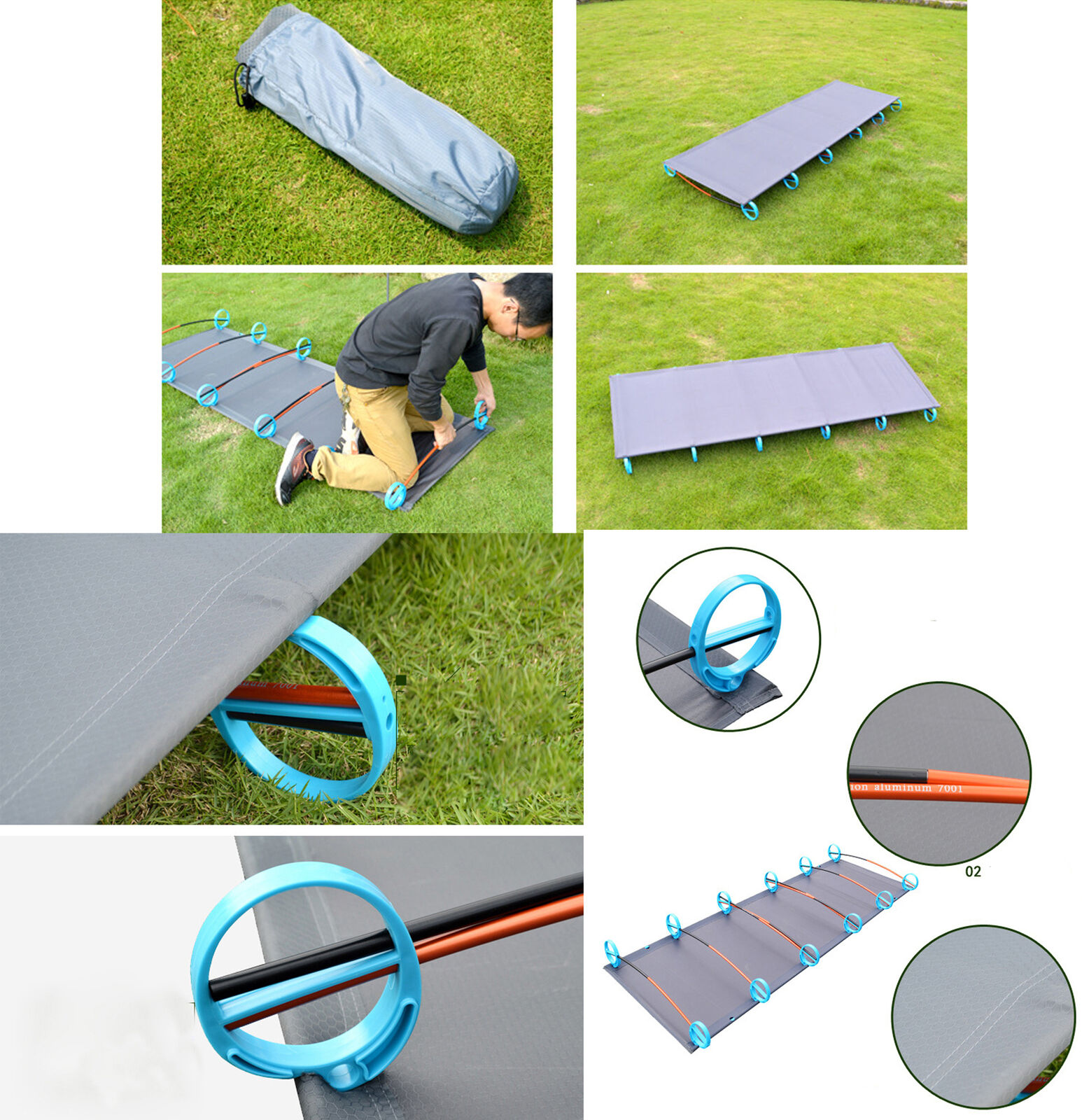 Outdoor Portable Folding Cot Ultralight Hiking Sleep Bed
