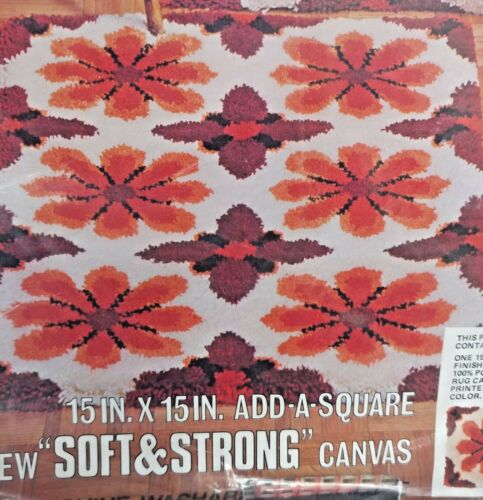 "Red Heart Latch Hook Rug Pattern 6607-05 Fantasia 15""X 15"" Add a Square New"