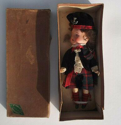 Vintage Scottish national costume doll in original box