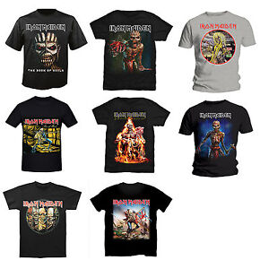 Official-Iron-Maiden-Mens-Rock-Music-Metal-T-Shirt-Trooper-Book-Of-Souls-Killers