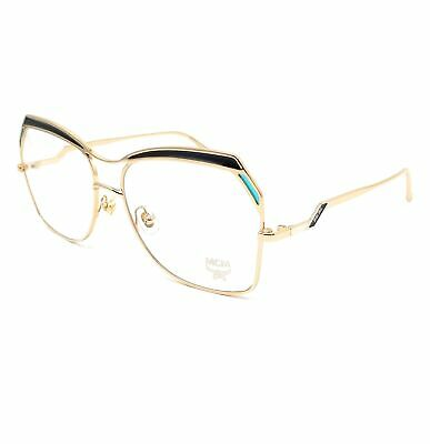MCM Eyeglasses 2122 740 Shiny Gold-Blue Tea Cup Women 56x15x135