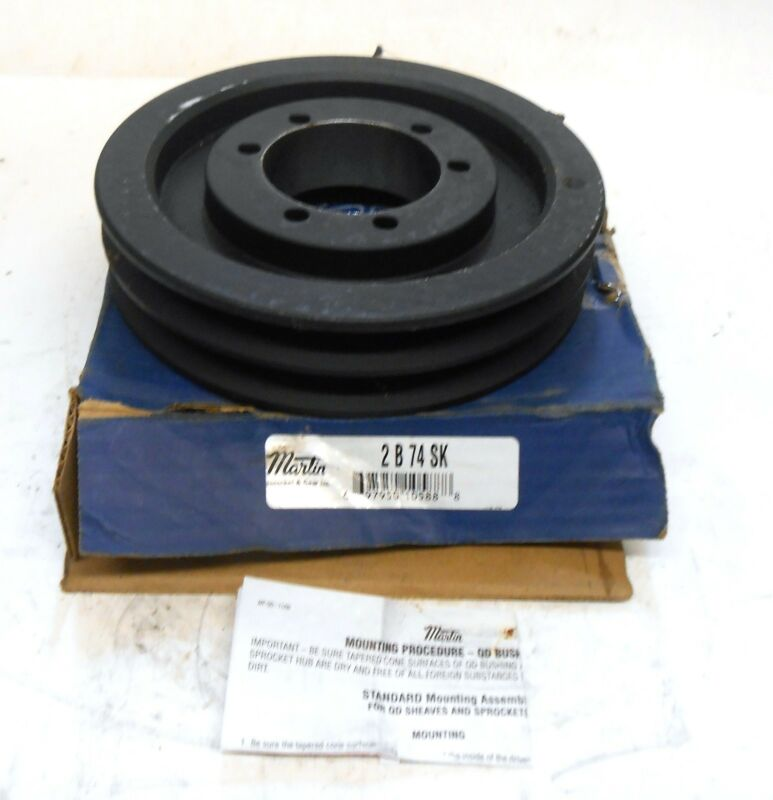 """MARTIN PULLEY SHEAVE, 2B74SK, 2 GROOVES, 7-3/4"""" OD"""