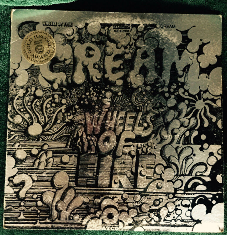 Cream - Wheels of Fire on ATCO SD2-700 Gatefold 2LP Foil Cover Orig Pink/Gold