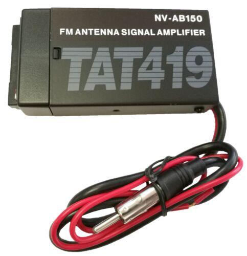 Novosonics FM 15db Antenna Signal Amplifier - Car Vehicle Stereo