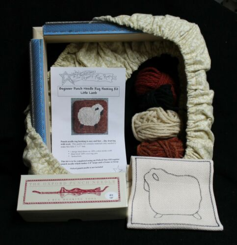 Oxford Punch Needle Starter Rug Hooking Kit ( Little Lamb)