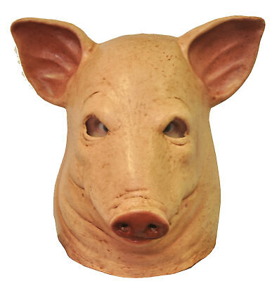 Blood Pig Latex Adult Mask Creepy Horror Head - Creepy Pig Maske