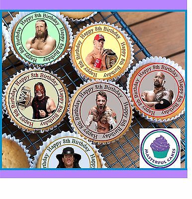 RTHDAY DES1 CUPCAKE TOPPERS WAFER PAPER, ICING PRE-CUT WAFER (Wwe Cupcake Toppers)