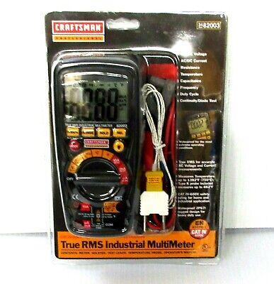 Craftsman Professional True Rms Industrial Multimeter 34-82003