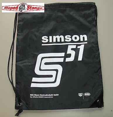 Retro Sportbeutel Beutel schwarz Mehrweg Fanartikel für Simson S51 S50 DDR Kult