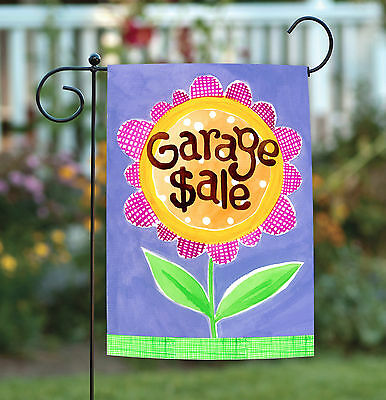 Toland Garage Sale 12.5 x 18 Cute Colorful Sign Yard Estate Rummage Garden Flag