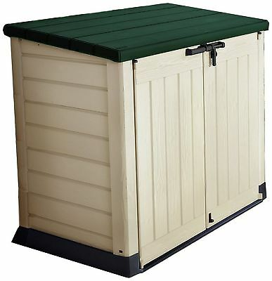 Keter Plastic Store It Out Garden Storage Box - Tan/Green.