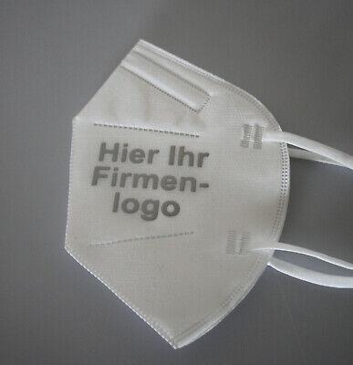 6x FFP2 Maske Deutsche Herstellung CE zertifiziert mit Aufdruck Firmenlogo Firma