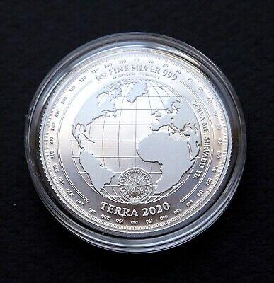 2020 Tokelau $5 Terra 1 oz Silver Coin BU