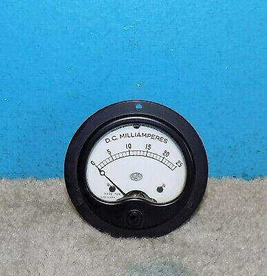 Roller-smith Type Tds Millamps Panel Meter 0-25ma 3.5 Free Shipping