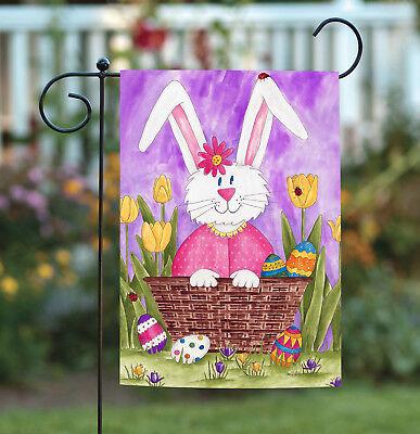 Toland Long Eared Bunny 12.5 x 18 Spring Rabbit Easter Basket Garden - Long Eared Bunny