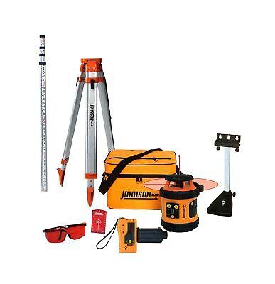 Johnson Level Tool 99-006k Self Leveling Rotary Laser System Kit Soft Shel...