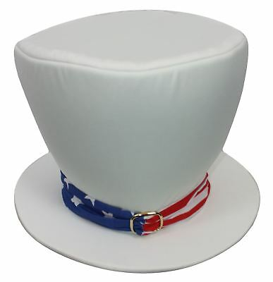 anda White Top Hat With Buckle Independence Day (Independence Day Kostüme)