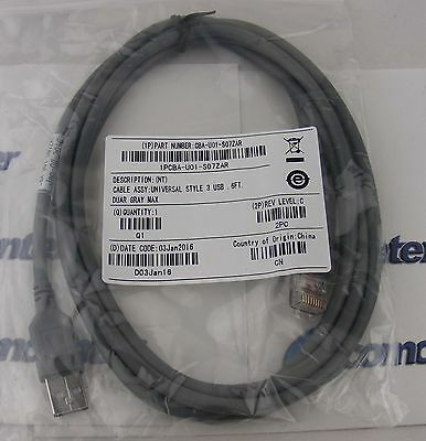 New Usb Cable For Symbol Barcode Ls2208 3408 4278 7808 M2007 Cba-u01-s07zar