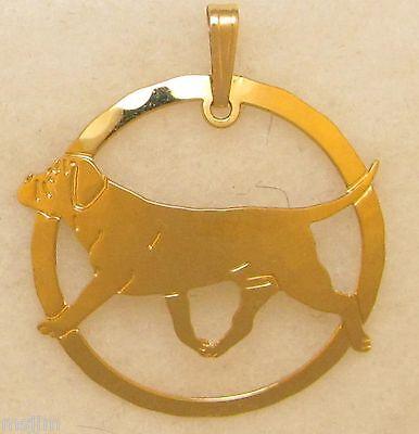 Bullmastiff Jewelry Gold Pendant for - Bullmastiff Jewelry