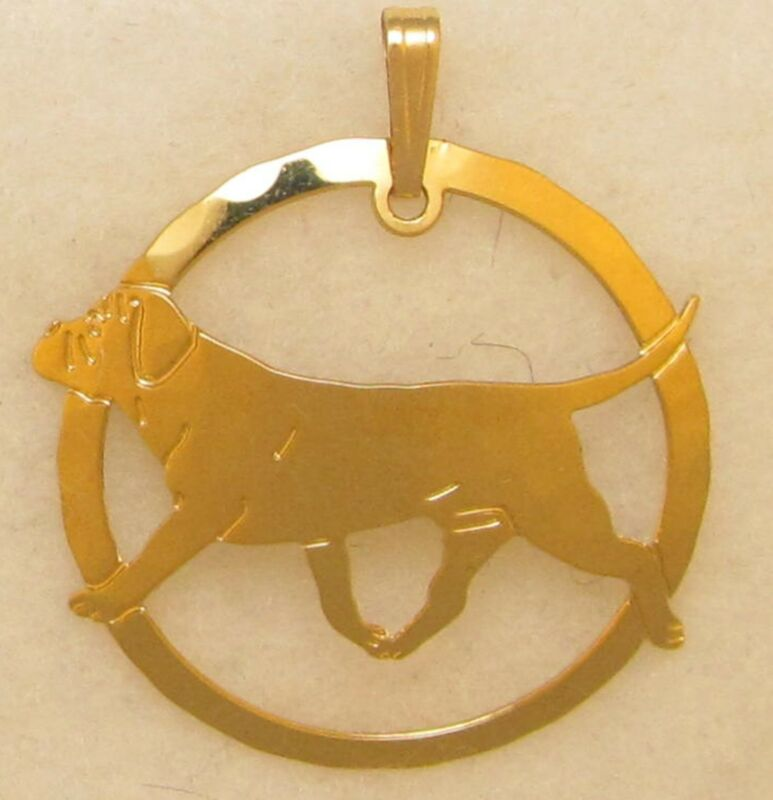 Bullmastiff Jewelry Gold Pendant for Necklace
