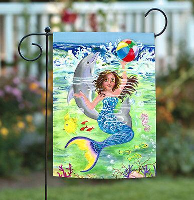 Toland Mermaid Coast 12.5 x 18 Colorful Swimming Ocean Dolph