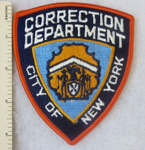 CITY of NEW YORK CORRECTION DEPARTMENT PATCH Vintage ORIGINAL